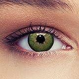 """Lenti a contatto colorate verde naturale per gli occhi scuri senza diottrie + gratis caso di lenti Modello""""Dimension Green"""""""