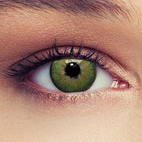 super speciali risparmia fino al 60% shop Lenti a contatto colorate verde naturale per gli occhi scuri senza diottrie  + gratis caso di lenti Modello