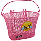 Basket with hooks EMOJI, Removable, wire mesh SMALL, kids Bicycle basket by Biria