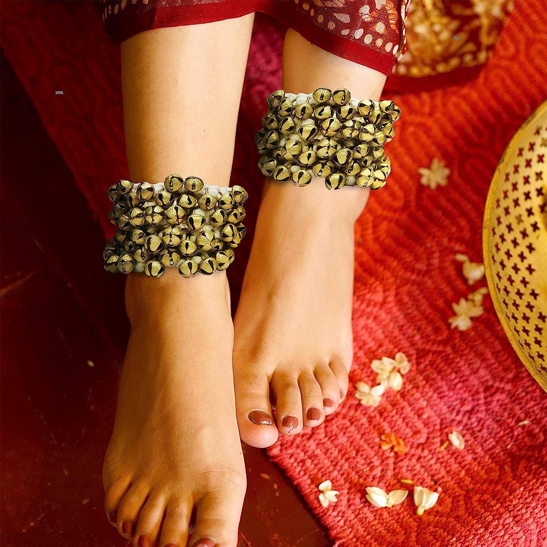 Ghungru 2 cm 14 No Total 100 Bells Dancing Bells ghungroo kathak 50 bells Arts Of India Ghungroo 50-50 Bells Pair Big Bells