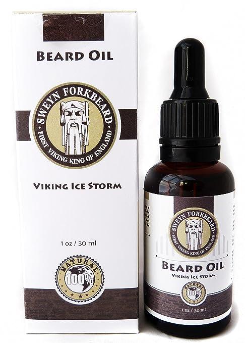 Aceite de Barba Viking Ice Storm 100% Organico Hecho a Mano en Londres