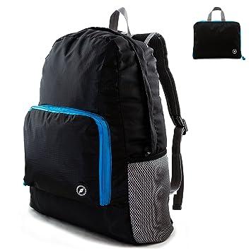 GLOBEPROOF® Mochila De Senderismo Plegable 10l, Negro-Azul, GPFB201701: Amazon.es: Deportes y aire libre
