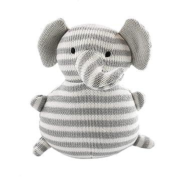 67ee21f710fda Houwsbaby Elephant Knitted Hand Craft Stuffed Animals Baby Plush Toy, Gray  (Elephant)
