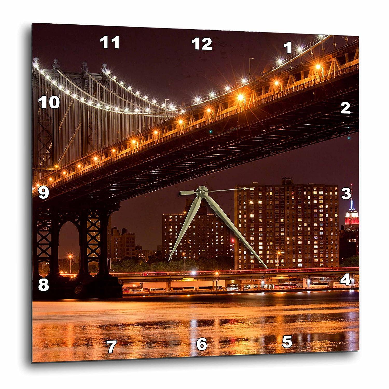 3dRose New York, Brooklyn, Manhattan Bridge-US33 PSO0000-Paul Souders-Wall Clock, 13-inch (DPP_93124_2)