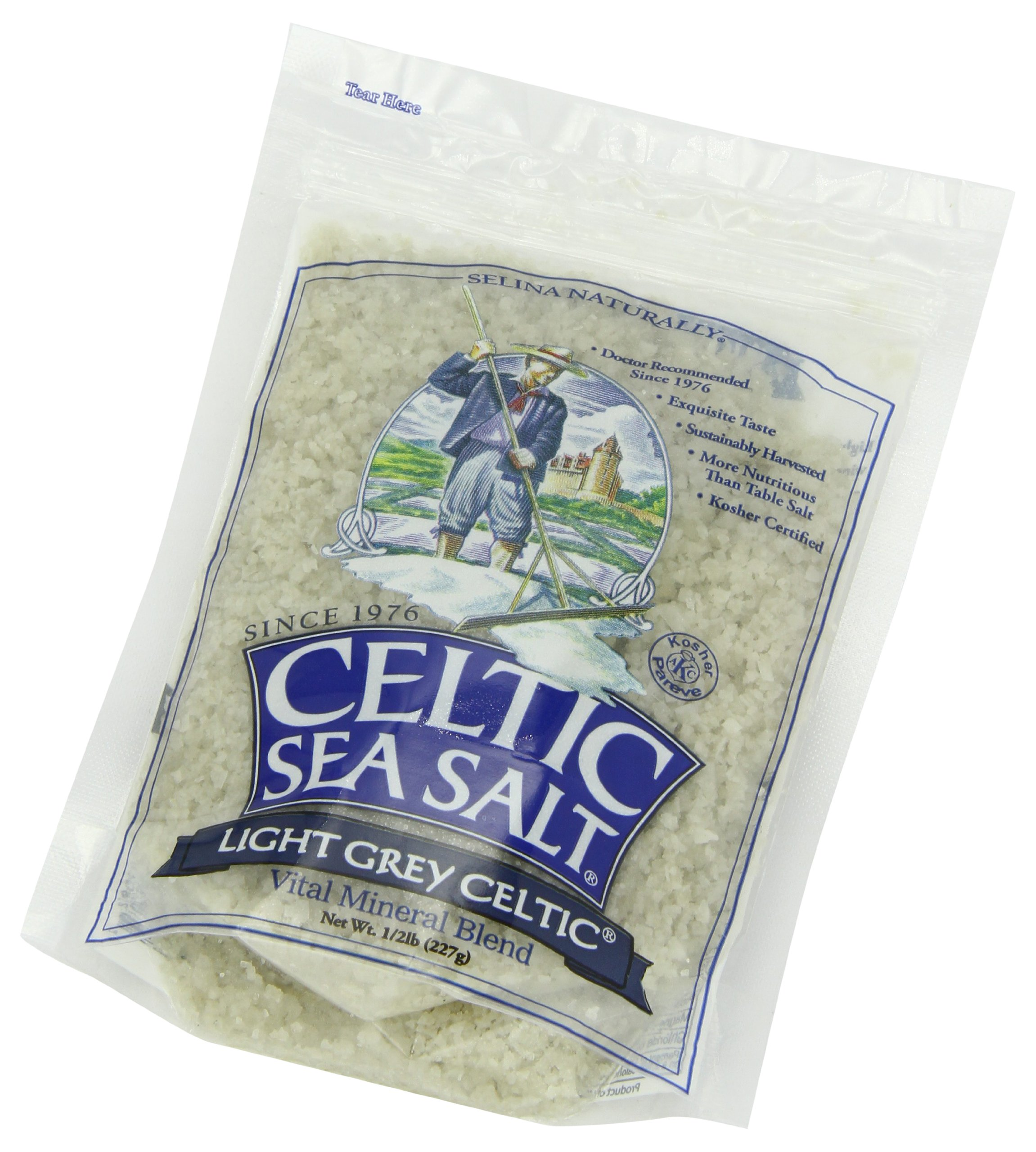 Celtic Sea Salt Light Grey, 8 Ounce (Pack of 12)