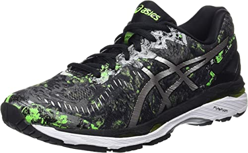 Asics Gel-Kayano 23, Zapatillas de Running para Hombre , color: Negro (Black/Silver/Green Gecko), 42.5 EU (8 UK): Amazon.es: Zapatos y complementos