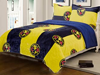 Club America King Size Sherpa Lined 3pc Set