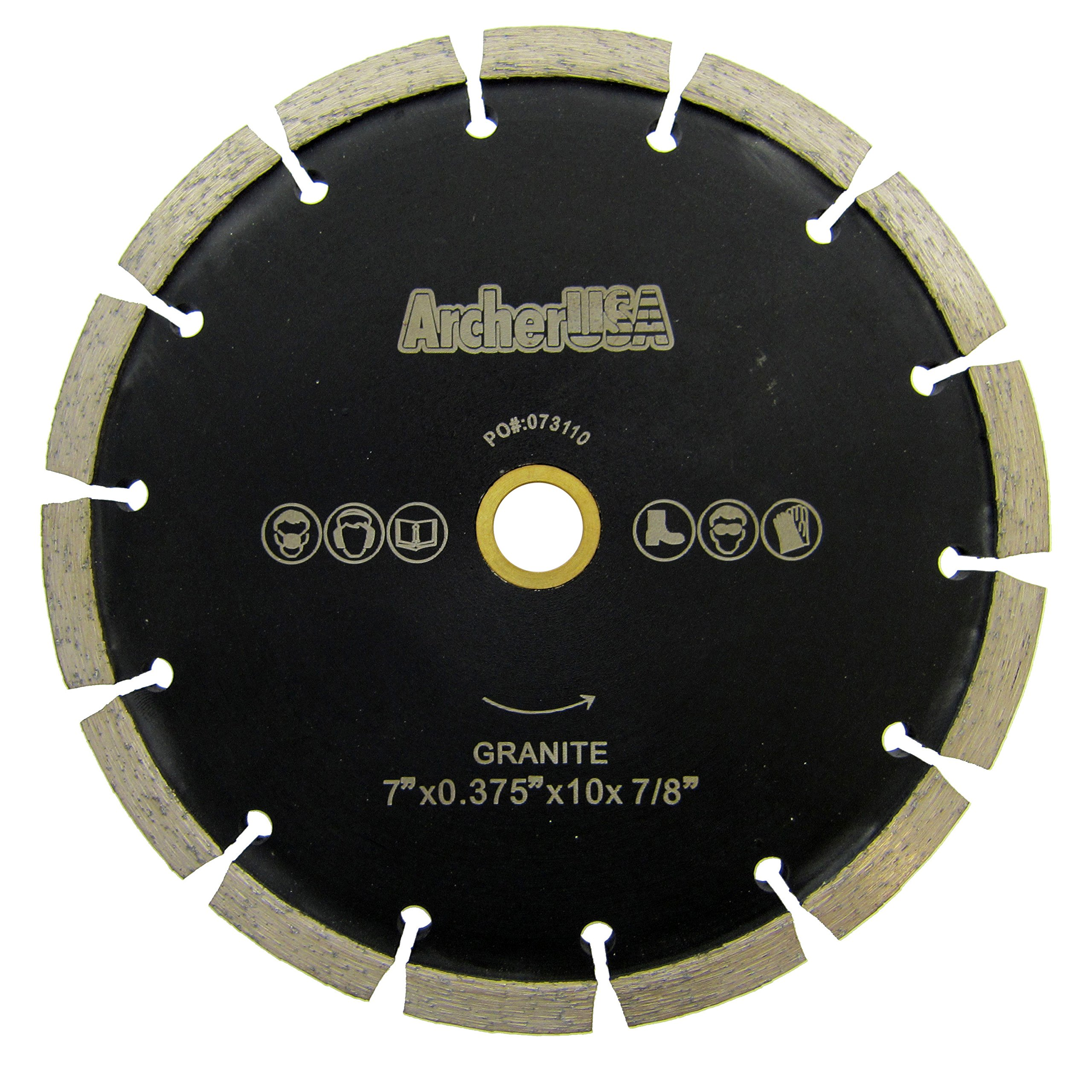 Archer USA Crack Chaser Diamond Saw Blade for Concrete Repair (7 inch) by Archer USA / Dexpan USA