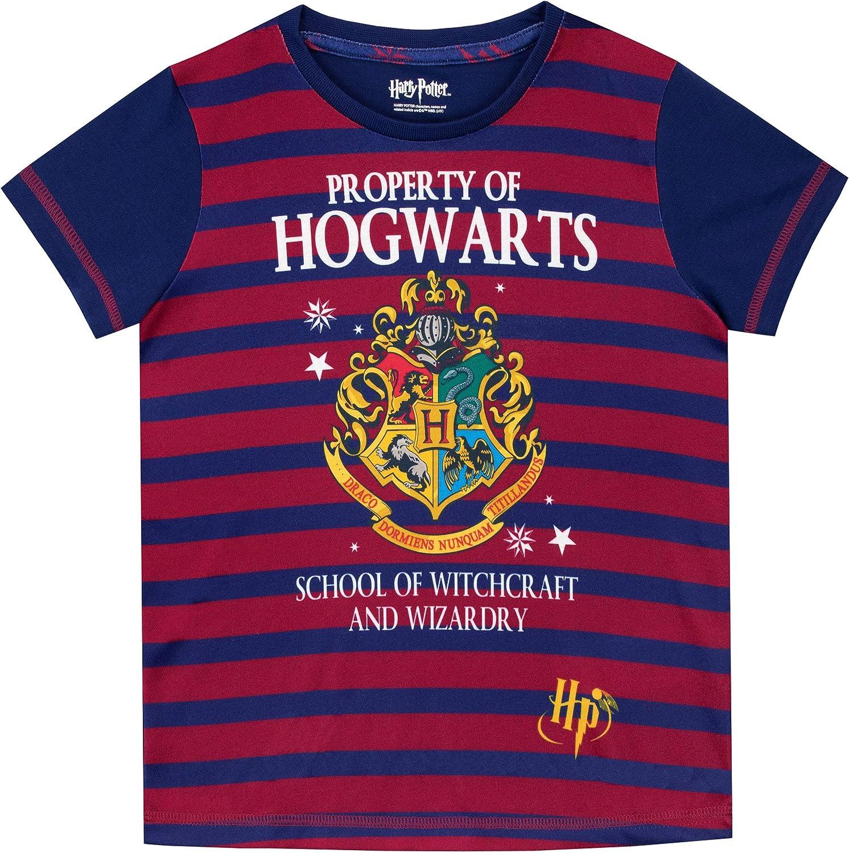 HARRY POTTER Pigiama a Maniche Corta per Ragazze Hogwarts