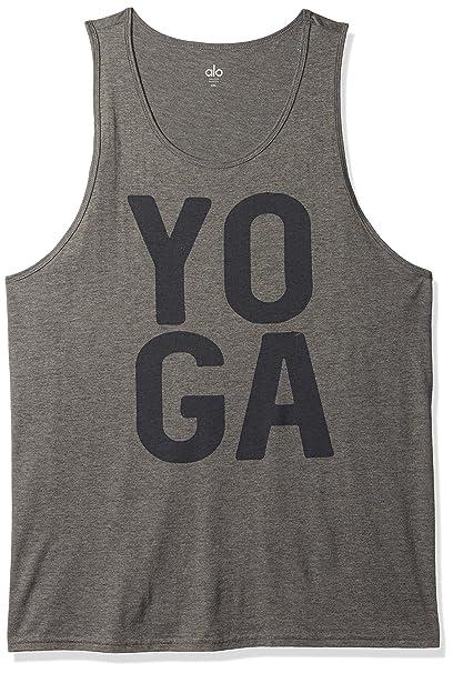 227f310904 Alo Yoga Mens Practice Tank Graphic Yoga Square T-Shirt: Amazon.ca ...