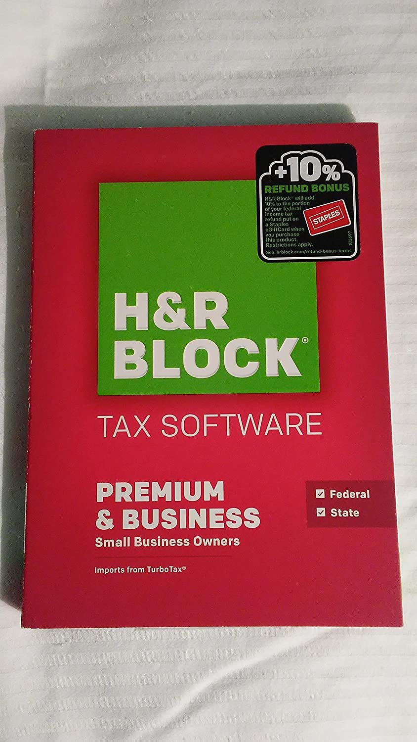 H&R Block Tax Software Premium & Business 2015 Federal & State