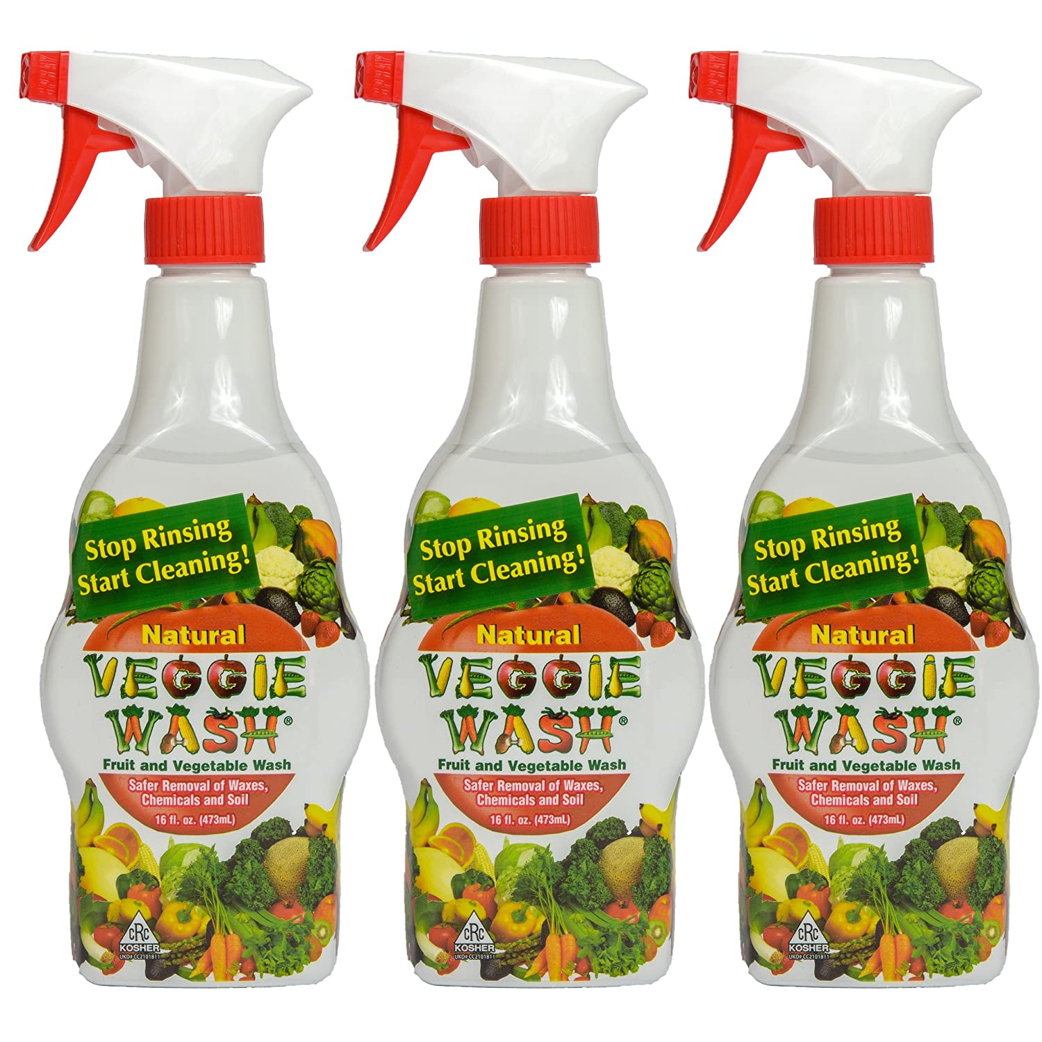 amazon com veggie wash all natural fruit and vegetable wash