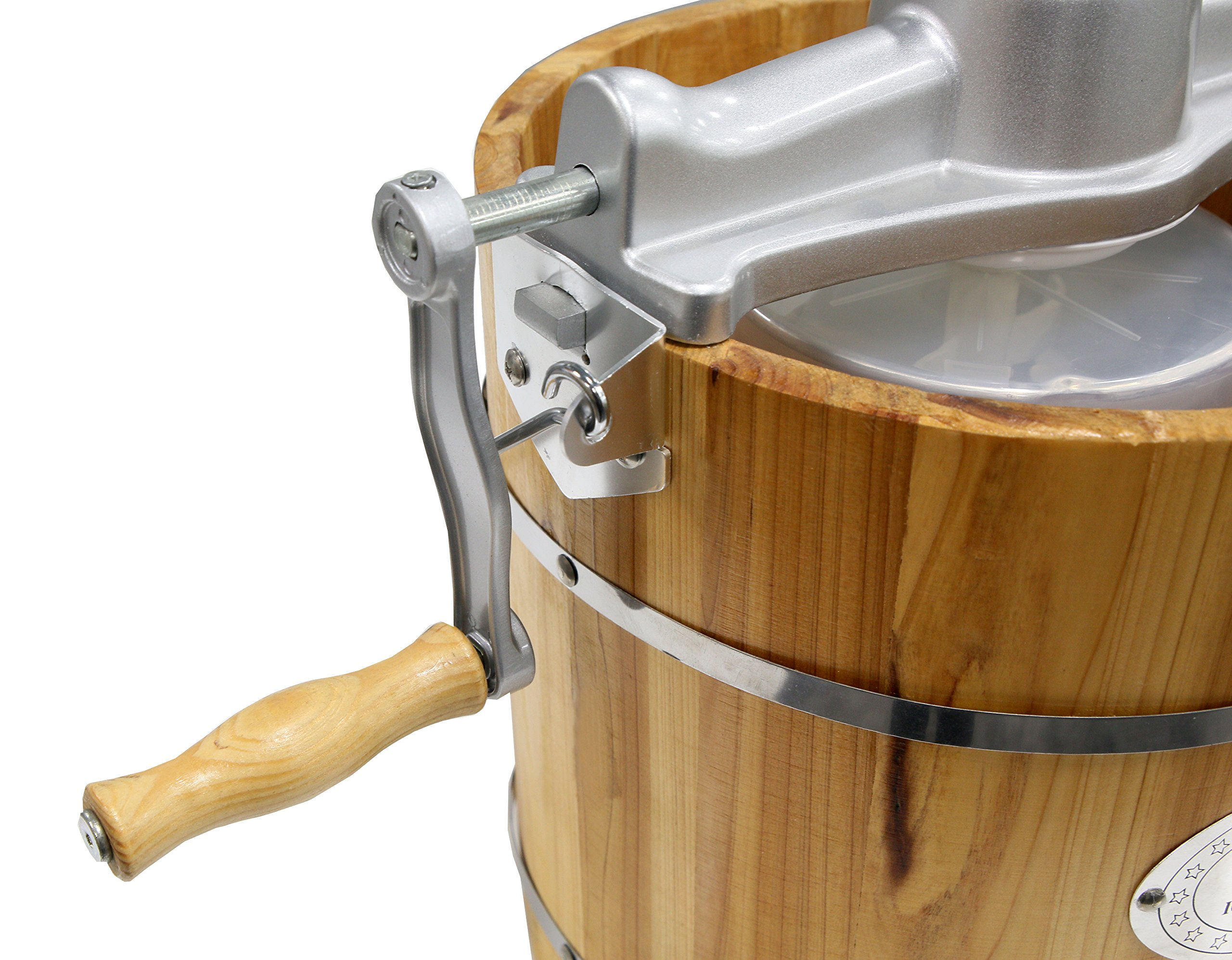 Elite Gourmet EIM-502 4 quart Old-Fashioned Ice Cream Maker with electric motor and hand crank, maple by Maxi-Matic (Image #3)