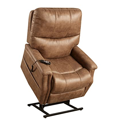 Pulaski DS A283 016 042 Faux Leather Dual Motor Lift Chair In Badlands
