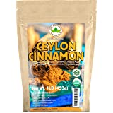 Ceylon Cinnamon Powder (1LB) | 100% CERTIFIED Organic | Freshly Ground Premium Sri Lanka Cinnamon For Exquisite Flavor and Ar