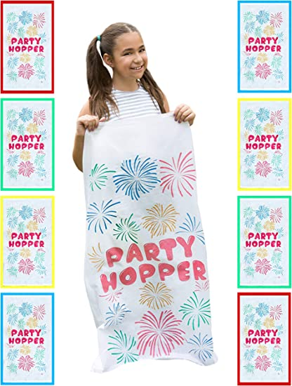 8 PACK Birthday Party Games Party Unlimited No Weird Burlap Odors Durable Potato Sack Race Bags