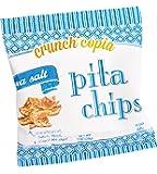 Crunchicopia Premium Pita Chips, Sea Salt, 1oz Snack Bags (Pack of 12)