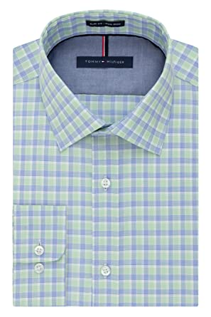 "d3367077 Tommy Hilfiger Men's Big and Tall Long Sleeve Button Down Shirt, Willow  18"" ..."