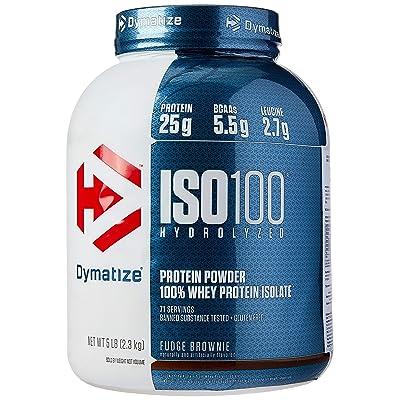 Buy dymatize iso 100 مسحوق بروتين مصل اللبن مع 25 جرام من مصل اللبن 100 ٪  عزل ، خالي من الجلوتين ، والهضم السريع ، حلوى الكعكة ، 5 رطل Online in  Egypt. B07W4DM2JC