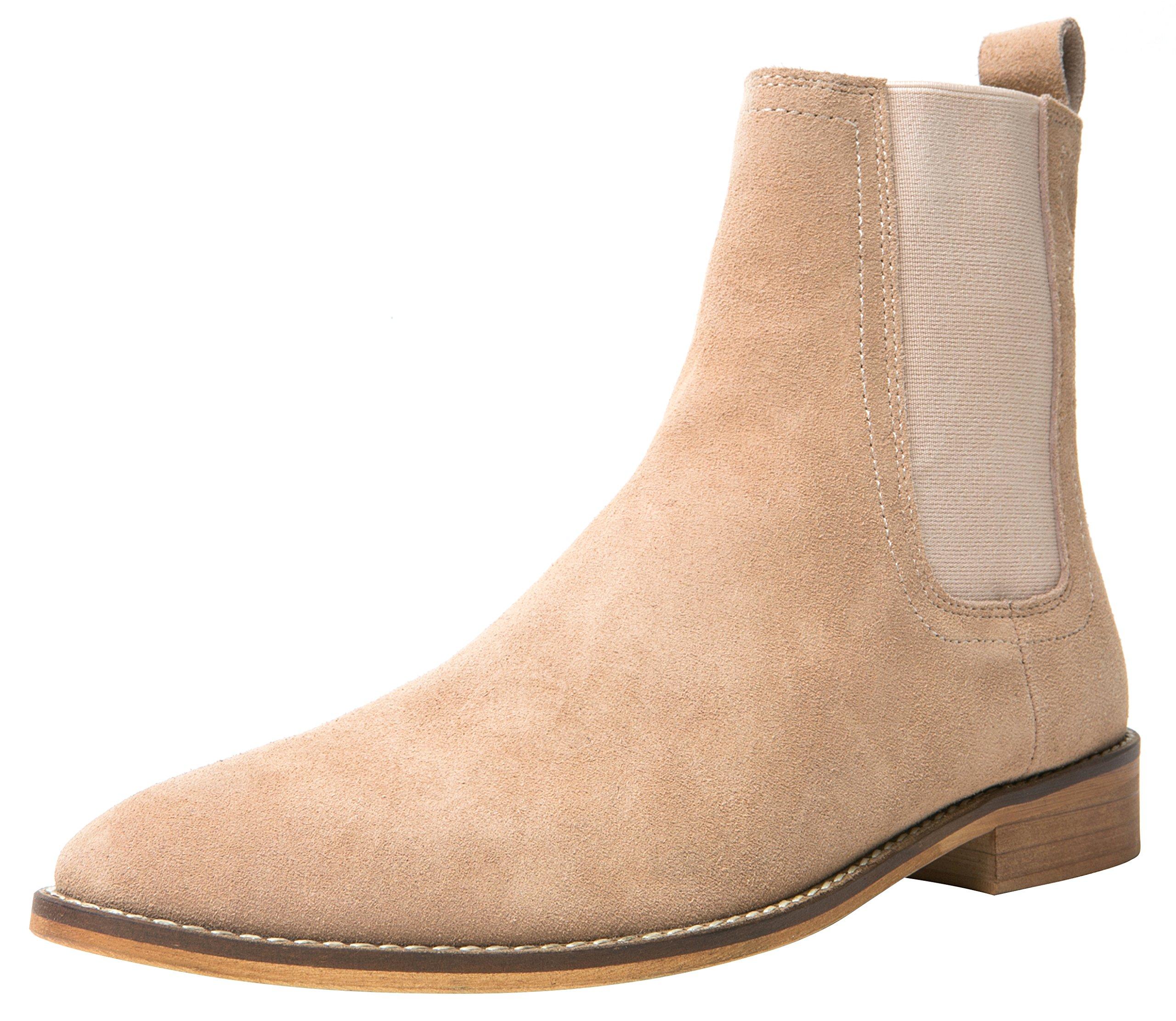 1778af1e5d Santimon Chelsea Boots Men Suede Casual Dress Boots Ankle Boots Formal  Shoes Black Brown Grey product