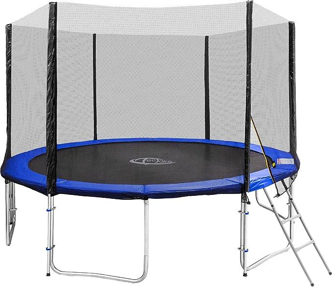 TecTake Cama elástica trampolín para Jardin | con Red de Seguridad y Escalera | TÜV Rheinland GS certificación - Varias tamaños - (Ø 366 cm | No. 402792): Amazon.es: Deportes y aire libre