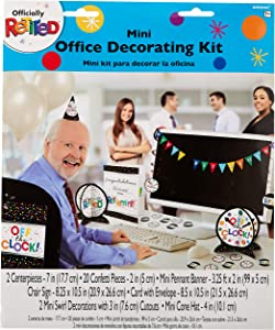 Amscan Officially Retired Mini Office Decorating Kit, One Size, Multicolor