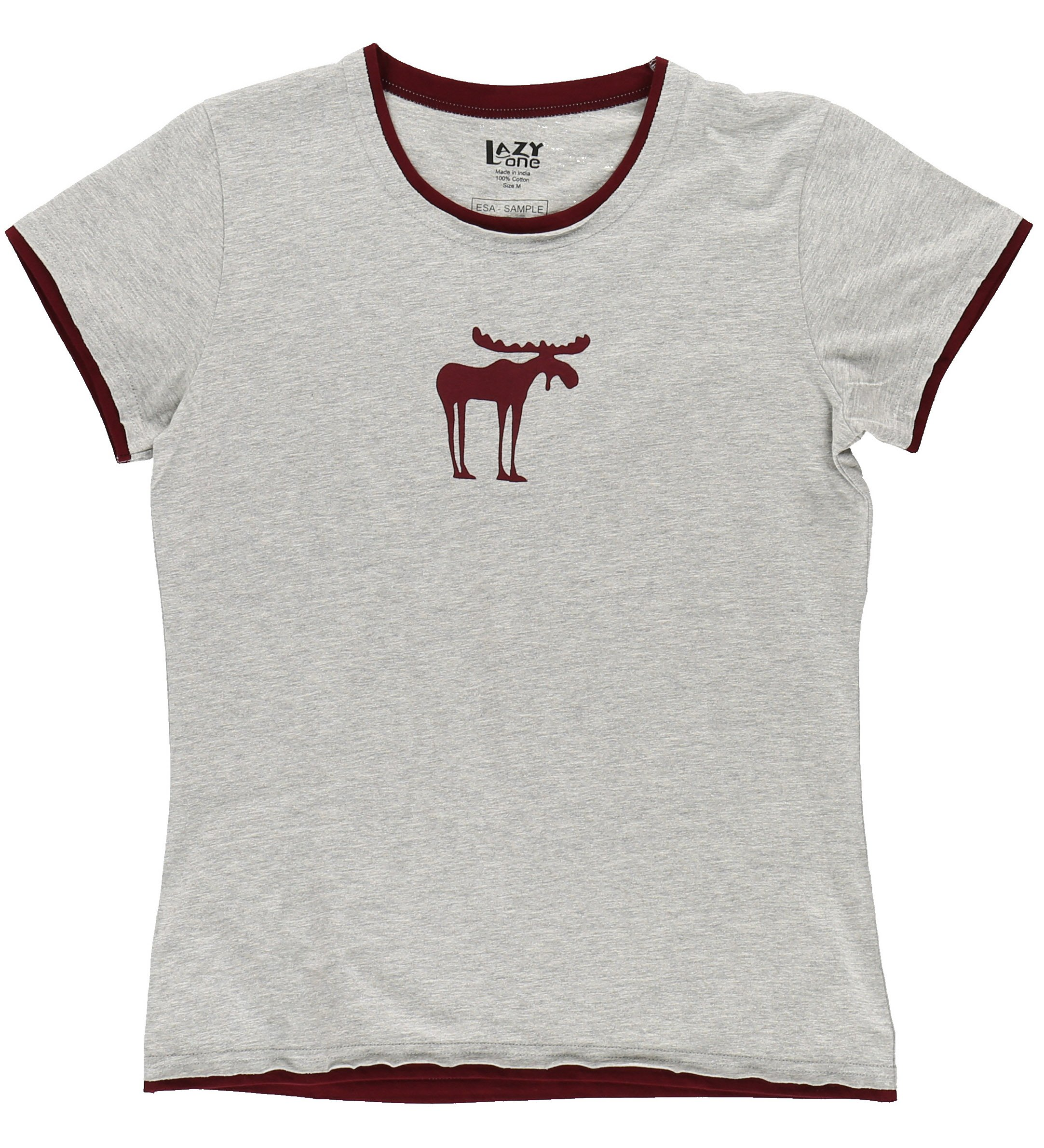 Funky Moose Women's Fitted Pajama Shirt TOP by