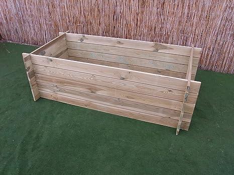 Compostador de madera (para cultivo o compostador, medidas 120x 120x