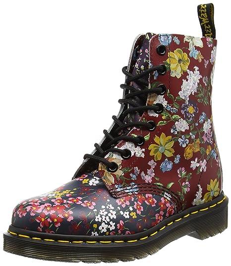 Dr. Martens 22392102, Stivali Corti Donna, Multicolore (Multi Floral Mix  Backhand)