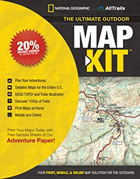 NATIONAL GEOGRAPHIC The Ultimate Outdoor Map Kit