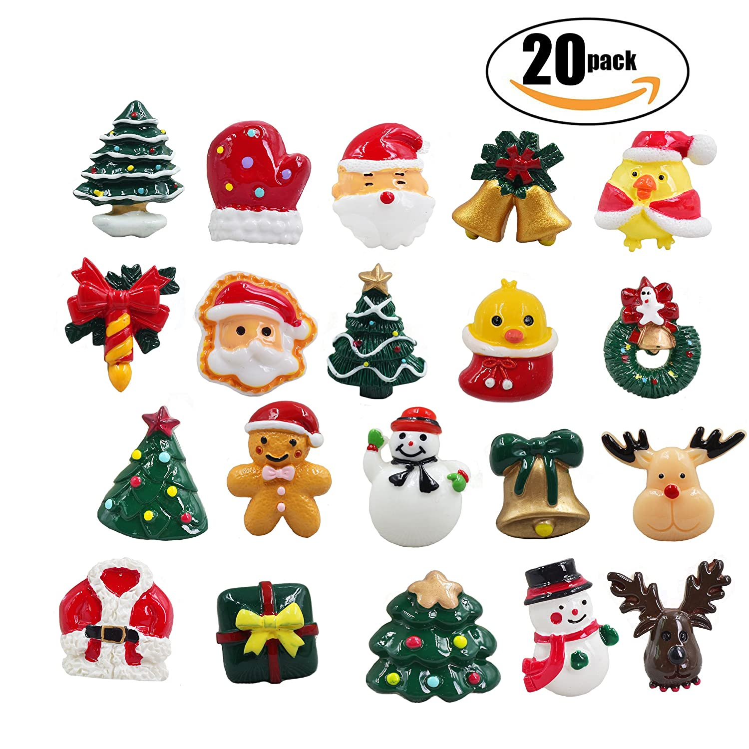 Amazoncom 20 Pcs Christmas Decorations Refrigerator Magnets Office Magnets Christmas