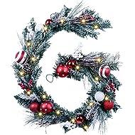 NEW!~Vintage Christmas Paper Mache /& Bristle Snowman /& Wreath~Country//Primitive