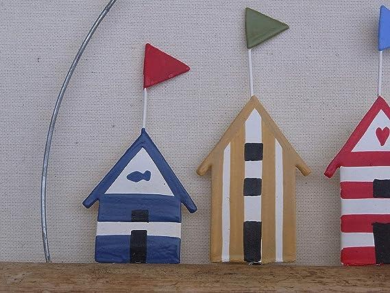 Amazon.com: Rústico casetas de playa con banderas en ...