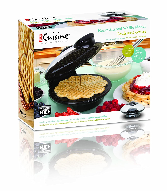 Euro Cuisine Heart Shaped Waffle Maker