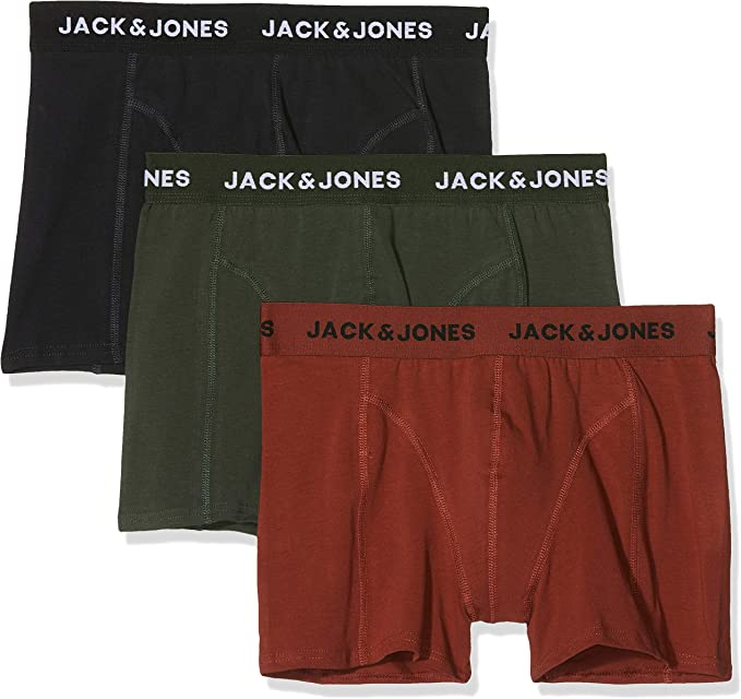 Jack & Jones Jacautumn Trunks 3 Pack Bóxer, Multicolor (Fired ...