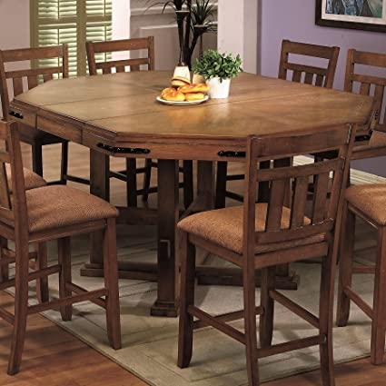 Chapman Rustic Counter Height Table With 18u0026quot; Leaf By Coaster Furniture