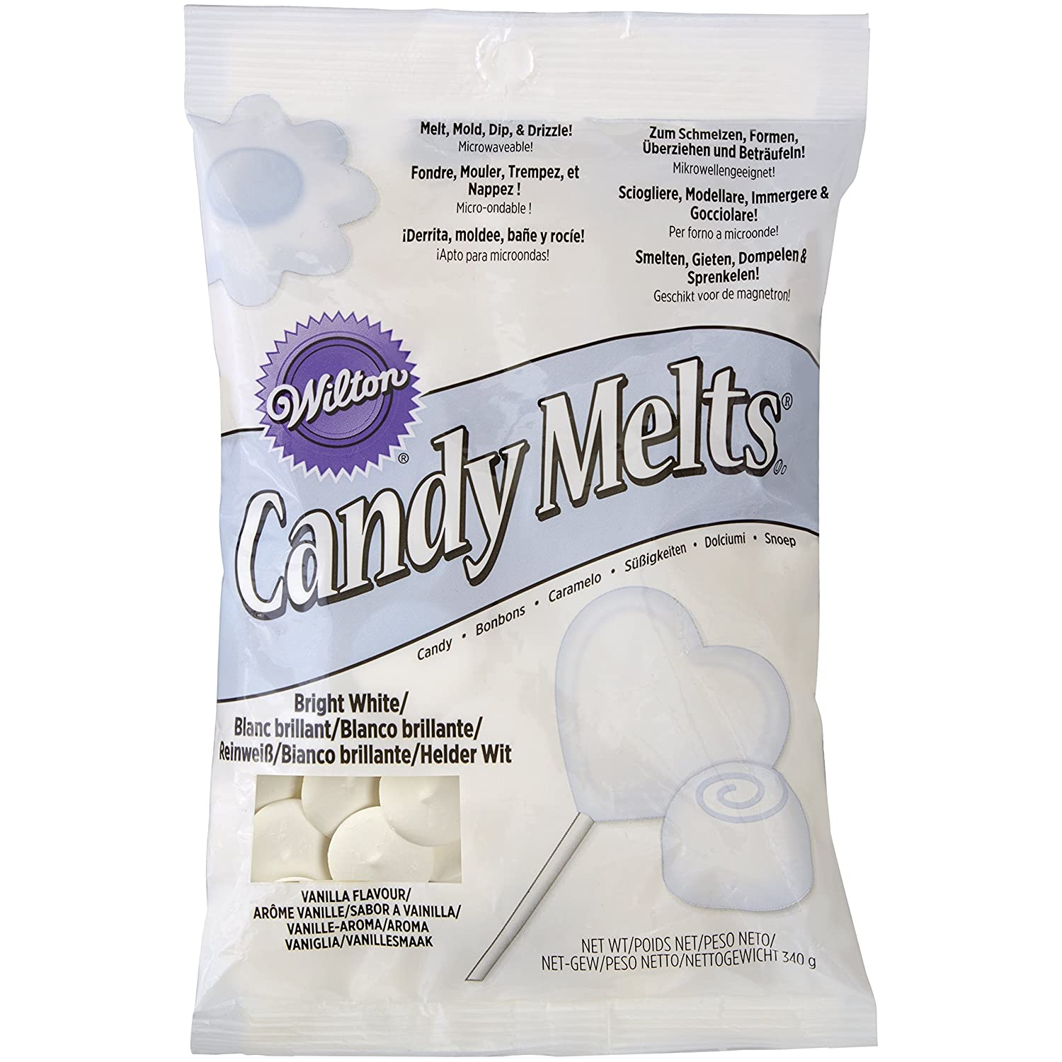 Amazon.com : Wilton BRIGHT WHITE Candy Creamy Melts Making ...