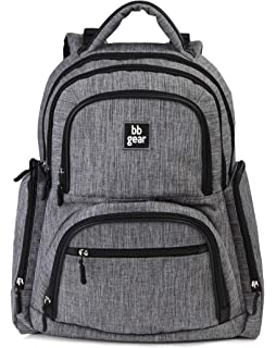 BB Gear Unisex Diaper Bag Backpack for Men and Women – Simple, Lightweight Design With