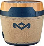 House of Marley, Chant Mini Bluetooth Portable Wireless Speaker, Splash Resistant IPX4, Full Range Sound, Integrated Mic for Use as Speaker Phone, Carabiner, Sustainably Crafted, EM-JA007-NV Navy