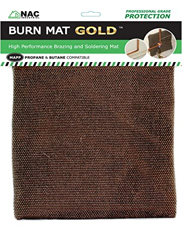NAC INDUSTRIAL Heat, Fire & Flame Barrier, Heat Resistant Welding Blanket BURN MAT –