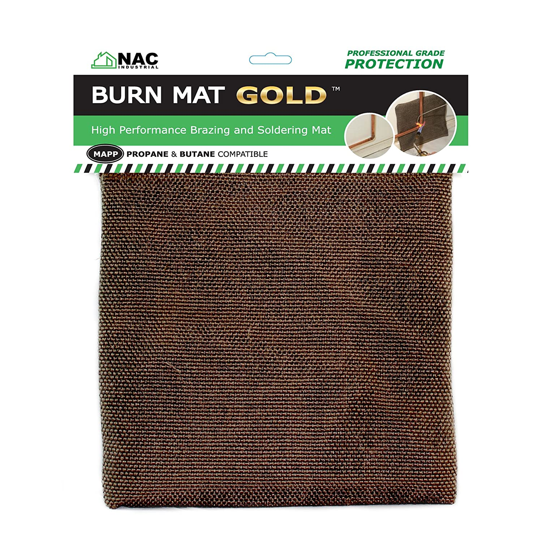 NAC INDUSTRIAL Heat, Fire & Flame Barrier, Heat Resistant Welding Blanket BURN MAT – Kelvar Fabric Heat Shield (GOLD Pack of 5)