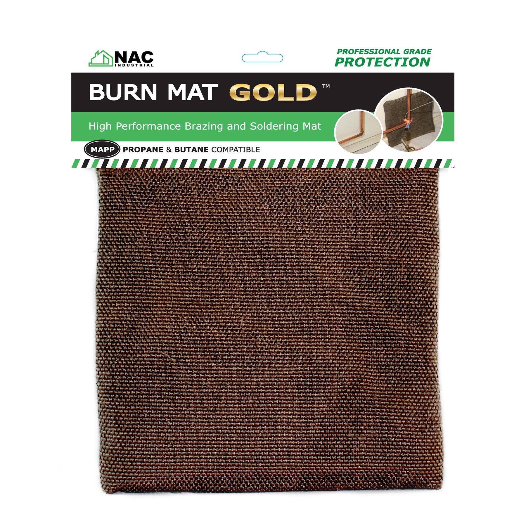NAC INDUSTRIAL Heat, Fire & Flame Barrier, Heat Resistant Welding Blanket BURN MAT - Kevlar Fabric Heat Shield (GOLD) by NAC INDUSTRIAL