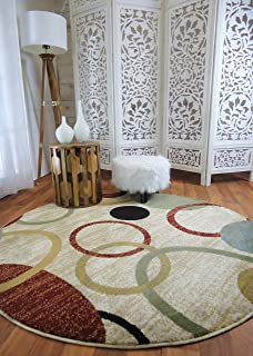 Modern Round Rugs 6ft Circle Clearance Rugs Round For Living And Dining Room  5ft Part 97