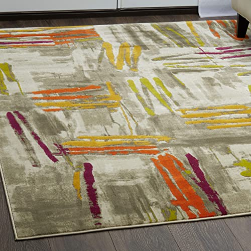Home Dynamix 4721-999 Tanja Marley Modern Area Rug 9 2 x12 5 , Abstract Gray Green Purple