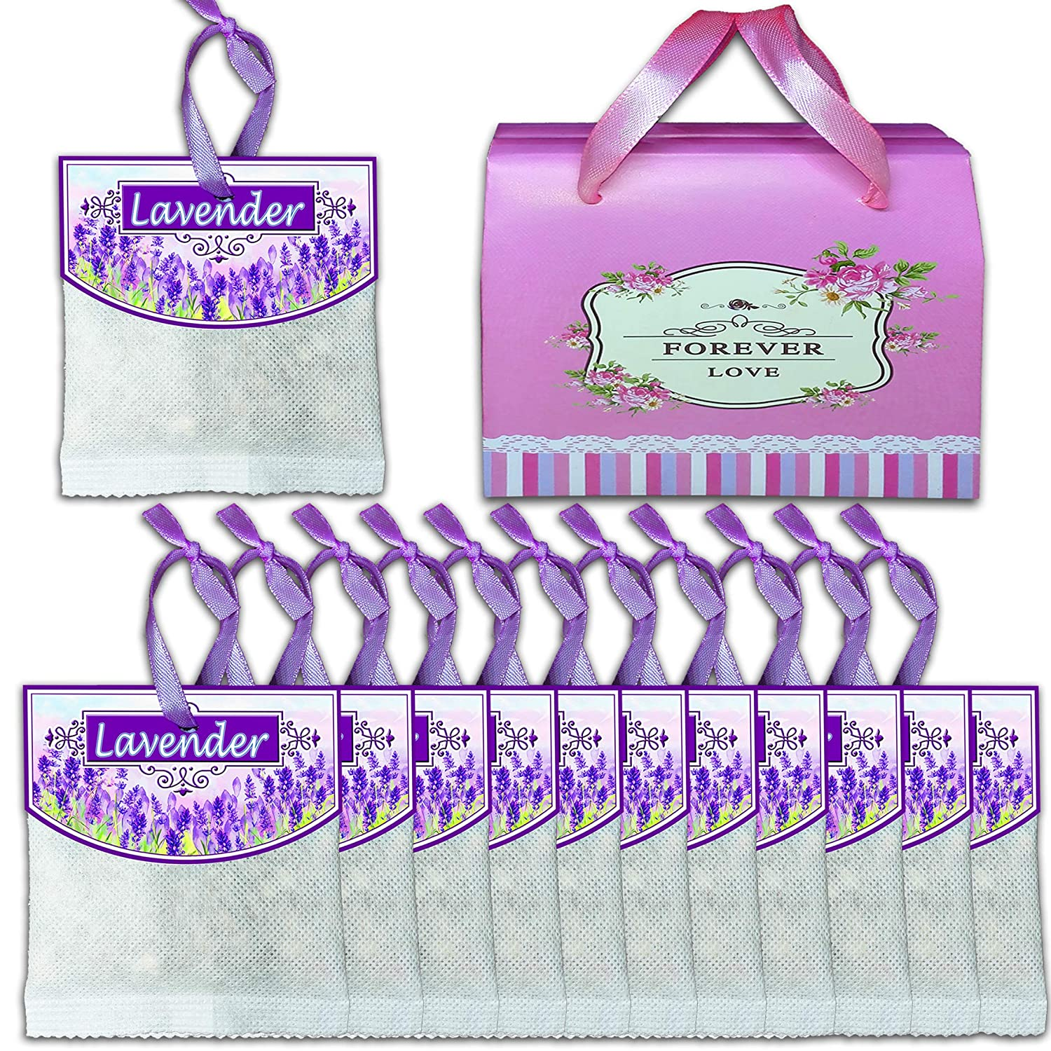 10 Packs (Upgraded Version) Reusable Lavender Scented Sachets for Drawers and Closets and Linens Clothing Closet Storage Etc, Best Gift,Fragrance Sachet,Ship from U.S Warehouse Scent Pleasant