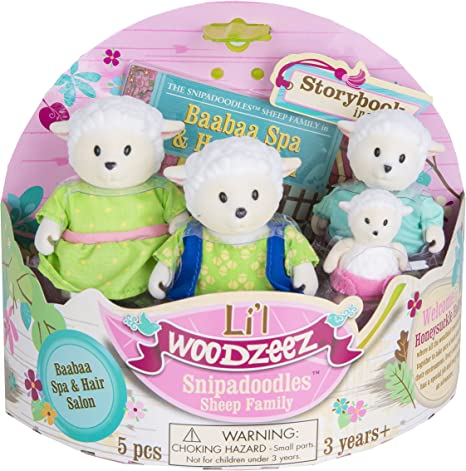 Family Toys and Books for Kids Age 3+ Lil Woodzeez Owl Family Set Whooswhoo Owls with Storybook 5pc Toy Set with Miniature Animal Figurines