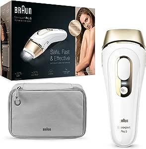 Braun Silk Expert Pro 5 PL5014 - Depiladora Luz Pulsada IPL, Depilación Permanente, Menos de 5 Min Ambas Piernas, Cara y Cuerpo, También para el Hombre