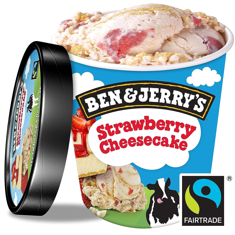 Ben & Jerrys Helado Tarrina Strawberry Cheesecake - 500 ml: Amazon ...