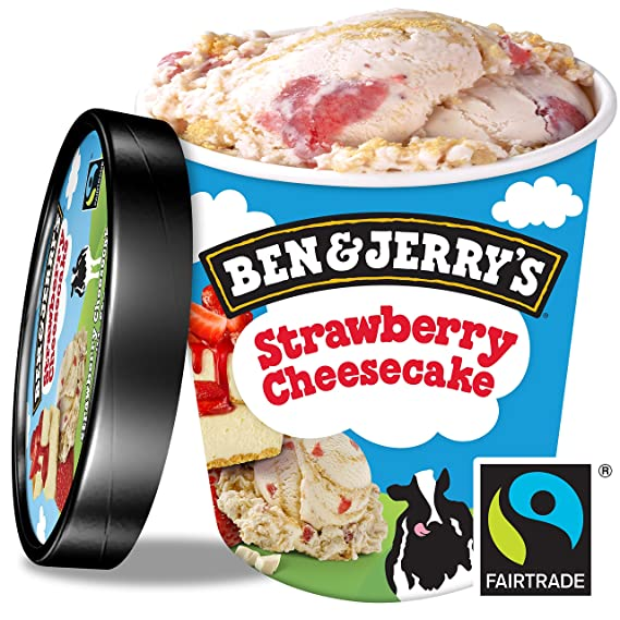 Ben & Jerrys Helado Tarrina Strawberry Cheesecake - 500 ml: Amazon ...