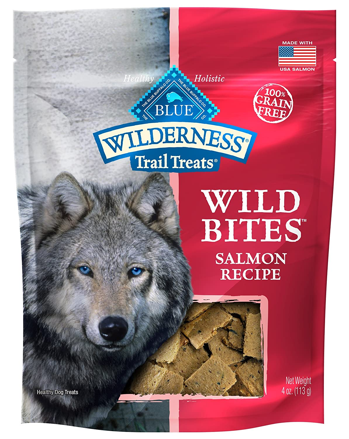 Blue Wilderness Grain-Free Wild Bites Salmon Treats, 4 Oz 8 Pack